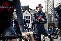 Tao Geoghegan Hart (GBR/INEOS Grenadiers) at the race start in LIège<br /> <br /> 107th Liège-Bastogne-Liège 2021 (1.UWT)<br /> 1 day race from Liège to Liège (259km)<br /> <br /> ©kramon
