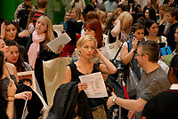 "Toronto ON – January 25, 2008 - Hundreds of hopefuls waiting in line since early morning in Toronto's CBC Atrium for the ""How Do You Solve A Problem Like Maria""<br /> open casting call auditions. (CNW Group/Holmes Creative Communications)"