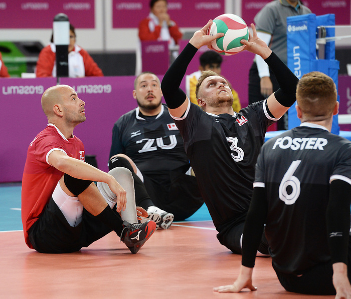 Mikael Bartholdy, Bryce Foster and Austin Hinchey, Lima 2019 - Sitting Volleyball // Volleyball assis.<br />
