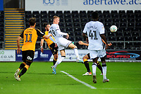 Sam Surridge of Swansea City scores his side's third goal during the Carabao Cup Second Round match between Swansea City and Cambridge United at the Liberty Stadium in Swansea, Wales, UK. Wednesday 28, August 2019.