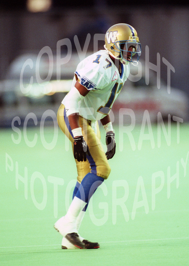 Anthony Florence Winnipeg Blue Bombers 1993. Photo F. Scott Grant