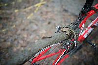 """blocked brakes""; first real mud course of the euro cross season<br /> <br /> Superprestige Gavere 2014"