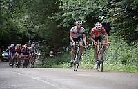 Thomas De Gendt (BEL/Lotto-Soudal) & Dries Devenyns (BEL/IAM) getting ahead<br /> <br /> Belgian National Road Cycling Championships 2016<br /> Les Lacs de l'Eau d'Heure