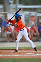 Caleb Ketchup (7) during the WWBA World Championship at the Roger Dean Complex on October 10, 2019 in Jupiter, Florida.  Caleb Ketchup attends Holy Innocents Episcopal High School in Jonesboro, GA and is committed to Georgia.  (Mike Janes/Four Seam Images)