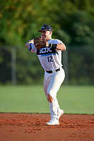 Aaron Downs (12) during the WWBA World Championship at Lee County Player Development Complex on October 8, 2020 in Fort Myers, Florida.  Aaron Downs, a resident of Columbus, Mississippi who attends Heritage Academy, is committed to Mississippi State.  (Mike Janes/Four Seam Images)