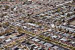 Philadelphia PA row houses helicopter aerial