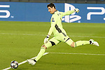 Real Madrid's Thibaut Courtois during UEFA Champions League Round of 16 2nd leg match. March 16,2021.(ALTERPHOTOS/Acero)