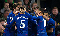 The Chelsea team celebrate Álvaro MORATA of Chelsea 2nd goal during the Premier League match between Chelsea and Crystal Palace at Stamford Bridge, London, England on 4 November 2018. Photo by Andy Rowland.<br /> .<br /> (Photograph May Only Be Used For Newspaper And/Or Magazine Editorial Purposes. www.football-dataco.com)