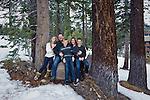 Family portrait in the Sierra Nevada, California
