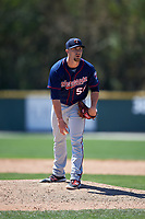 Minnesota Twins Colton Davis (55) during a minor league Spring Training game against the Baltimore Orioles on March 17, 2017 at the Buck O'Neil Baseball Complex in Sarasota, Florida.  (Mike Janes/Four Seam Images)