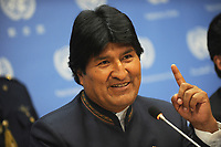 SMG_Bolivian President Evo Morales_NY1_Global Initiative_092513_04.JPG<br /> <br /> NEW YORK, NY - SEPTEMBER 24:  Bolivian President Evo Morales addresses the U.N. General Assembly on September 24, 2013 in New York City. Over 120 prime ministers, presidents and monarchs are gathering this week for the annual meeting at the temporary General Assembly Hall at the U.N. headquarters while the General Assembly Building is closed for renovations.  (Photo By Storms Media Group) <br /> <br /> People:  Bolivian President Evo Morales<br /> <br /> Transmission Ref:  NY1<br /> <br /> Must call if interested<br /> Michael Storms<br /> Storms Media Group Inc.<br /> 305-632-3400 - Cell<br /> 305-513-5783 - Fax<br /> MikeStorm@aol.com<br /> www.StormsMediaGroup.com