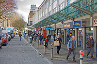 Pictured: Shoppers in Oxford Street, Swansea, south Wales, UK. Friday 20 March 2020<br /> Re: Covid-19 Coronavirus pandemic, UK.