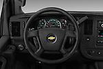 Car pictures of steering wheel view of a 2018 Chevrolet Express 3500 3500 Extended Work Van 4 Door Cargo Van