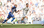 Cristiano Ronaldo (r) of Real Madrid competes for the ball with Victor Laguardia Cisneros of Deportivo Alaves during their La Liga match between Real Madrid and Deportivo Alaves at the Santiago Bernabeu Stadium on 02 April 2017 in Madrid, Spain. Photo by Diego Gonzalez Souto / Power Sport Images