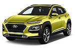 2019 Hyundai Kona Limited DCT 5 Door SUV angular front stock photos of front three quarter view