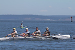 Port Townsend, Rat Island Regatta, Rainer Storb;, Maas OW Quad,  rowers, racing, Sound Rowers, Rat Island Rowing Club, Puget Sound, Olympic Peninsula, Washington State, water sports, rowing, competition,