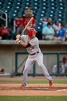Chattanooga Lookouts Brantley Bell (28) at bat during a Southern League game against the Birmingham Barons on July 24, 2019 at Regions Field in Birmingham, Alabama.  Chattanooga defeated Birmingham 9-1.  (Mike Janes/Four Seam Images)