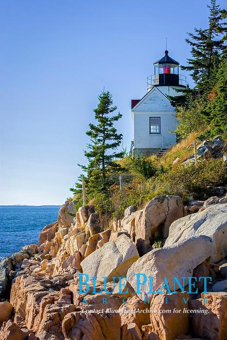 Bass Harbor Head Lighthouse, Mount Desert Island, Acadia National Park, Maine, USA, Atlantic Ocean