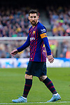 Lionel Andres Messi of FC Barcelona reacts during the La Liga 2018-19 match between FC Barcelona and Real Betis at Camp Nou, on November 11 2018 in Barcelona, Spain. Photo by Vicens Gimenez / Power Sport Images