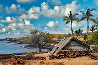 Structure in Lapakahi State Historical Park,  Hawaii, the big island.