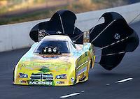Jul. 20, 2013; Morrison, CO, USA: NHRA funny car driver Johnny Gray during qualifying for the Mile High Nationals at Bandimere Speedway. Mandatory Credit: Mark J. Rebilas-