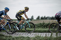 Later winner Dylan Groenewegen (NED/Lotto NL - Jumbo) riding the cobbles. <br /> <br /> 103th Kampioenschap van Vlaanderen 2018 (UCI 1.1)<br /> Koolskamp – Koolskamp (186km)