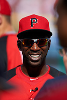 Pittsburgh Pirates Andrew McCutchen during practice before the MLB All-Star Game on July 14, 2015 at Great American Ball Park in Cincinnati, Ohio.  (Mike Janes/Four Seam Images)