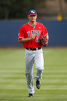 Alex Bonczyk #32 of the Gonzaga Bulldogs during a game against the Loyola Marymount Lions at Page Stadium on March 28, 2013 in Los Angeles, California. (Larry Goren/Four Seam Images)