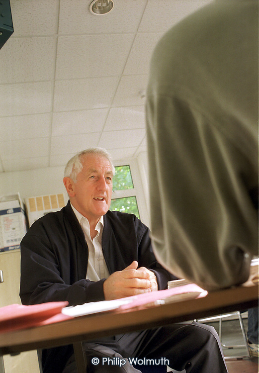 Local resident at one of the regular housing advice surgeries held at the Linc Centre, on Poplar HARCA's Lincoln Estate, which was transferred from Tower Hamlets Council control after a ballot of residents.