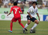 Zachary Herold controls the ball. US Under-17 Men's National Team defeated United Arab Emirates 1-0 at Gateway International  Stadium in Ijebu-Ode, Nigeria on November 1, 2009.