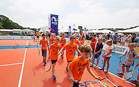 Den Bosch, Netherlands, 08 June, 2016, Tennis, Ricoh Open, KNLTB tennis plaza kidsday<br /> Photo: Henk Koster/tennisimages.com