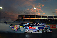 Sept. 28, 2012; Madison, IL, USA: NHRA pro stock driver Jason Line during qualifying for the Midwest Nationals at Gateway Motorsports Park. Mandatory Credit: Mark J. Rebilas-