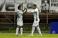 RIONEGRO - COLOMBIA, 18-11-2020: Rionegro Águilas y Atlético Nacional en partido por los octavos de final como parte de la Copa BetPlay DIMAYOR 2020 jugado en el estadio Alberto Grisales de la ciudad del Rionegro. / Rionegro Aguilas and Atletico Nacional in match for the round of 16 as part of BetPlay DIMAYOR Cup 2020 played at Alberto Grisales stadium in Rionegro city. Photo: VizzorImage / Juan Augusto Cardona / Cont