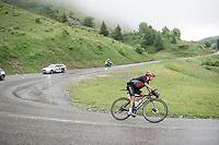 Nairo Quintana (COL/Arkea Samsic) descending the Col de la Colombière (1618 m)<br /> <br /> Stage 8 from Oyonnax to Le Grand-Bornand (151km)<br /> 108th Tour de France 2021 (2.UWT)<br /> <br /> ©kramon