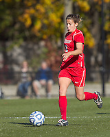 Marist College midfielder Kathryn Hannis (2) brings the ball forward. Boston College defeated Marist College, 6-1, in NCAA tournament play at Newton Campus Field, November 13, 2011.