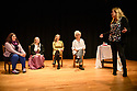 """Edinburgh, UK. 16.11.2019. """"The Remarkable Deliverances of Alice Thornton"""", written and performed by Debbie Cannon, based on research by Dr Cordelia Beattie, is performed as part of the Being Human Festival 2019, at the Scottish Storytelling Centre. Directed by Flavia D'Avila, with dramaturgy by Jen McGregor. Picture shows: Flavia D'Avila (director), Debbie Cannon (writer and actor), Dr Cordelia Beattie (History, University of Edinburgh), Dr Suzanne Trill (English Literature, University of Edinburgh), Sarah Churchwell (Director of the Being Human Festival) at the post show Q & A. Photograph © Jane Hobson."""