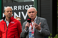 13th March 2020; Melbourne Grand Prix Circuit, Melbourne, Victoria, Australia; Formula One, Australian Grand Prix, Practice Day; Paul Little, Andrew Westacott talks to the media about the cancellation of the Grand Prix  due to one of the Renault crew being tested positive for the Corona Virus