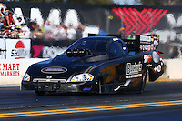Jul. 25, 2014; Sonoma, CA, USA; NHRA funny car driver John Hale during qualifying for the Sonoma Nationals at Sonoma Raceway. Mandatory Credit: Mark J. Rebilas-