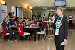 Sochi, RUSSIA - Mar 9 2014 -  Deborah Gullaher speaks at the Petro-Canada Sochi 2014 Family & Friends reception at Canada Paralympic House at the 2014 Paralympic Winter Games in Sochi, Russia.  (Photo: Matthew Murnaghan/Canadian Paralympic Committee)