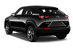 Car pictures of rear three quarter view of 2021 Mazda MX-30 Skycruise 5 Door SUV Angular Rear