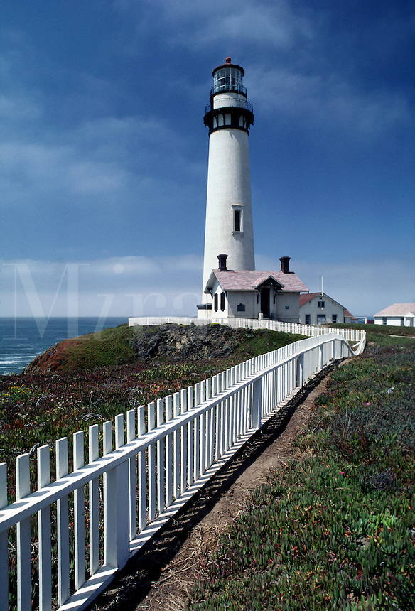 Pigeon Point Lighthouse, built in 1872, is located north of SANTA CRUZ on the California coast.