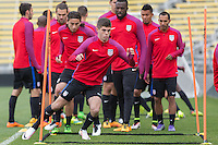 Columbus, OH - March 28, 2016: The U.S. Men's National team train in preparation for their World Cup Qualifying (WCQ) match versus Guatemala at MAPFRE Stadium.