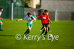 Tussle for possession between Park FC's Cayden Roche and Shane O'Loughlin of Castleisland in the Schoolboys soccer U14 Div 1 league