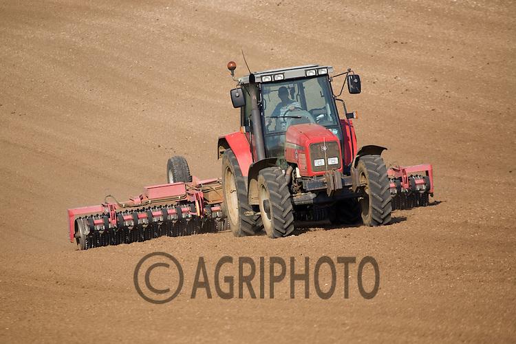 Tractors Working On Farmland In Rutland