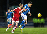 St Johnstone v Aberdeen…22.04.16  McDiarmid Park, Perth<br />Graham Cummins and Mark Reynolds<br />Picture by Graeme Hart.<br />Copyright Perthshire Picture Agency<br />Tel: 01738 623350  Mobile: 07990 594431