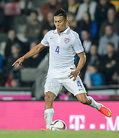 PRAGUE, Czech Republic - September 3, 2014: USA's Michael Orozco during the international friendly match between the Czech Republic and the USA at Generali Arena.