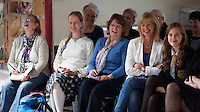 Members of the audience enjoying a laugh at an evening celebrating the work of Leila Berg and the official opening of her archive at Seven Stories in Newcastle, 19th September 2012.