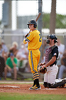 Matt McLain (2) while playing for Canes National based out of Fredericksburg, Virginia during the WWBA World Championship at the Roger Dean Complex on October 21, 2017 in Jupiter, Florida.  Matt McLain is a shortstop / second baseman / outfielder from Tustin, California who attends Arnold O. Beckman High School.  (Mike Janes/Four Seam Images)