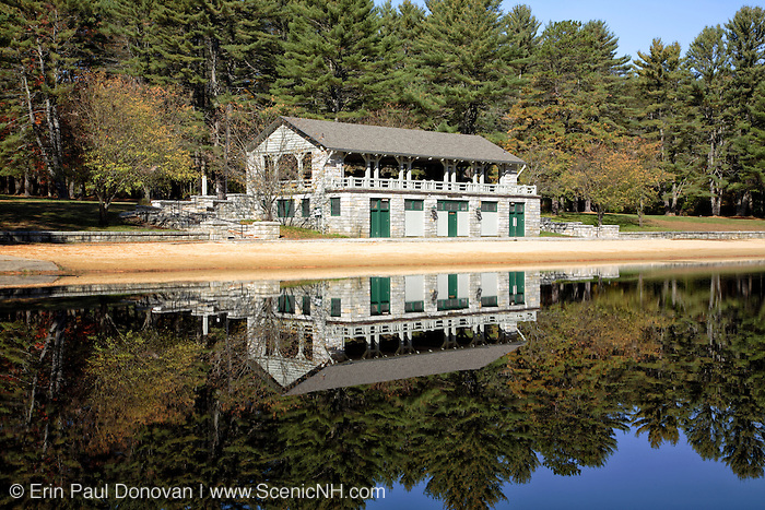 Bear Brook State Park in Allenstown, New Hampshire USA during the autumn months.