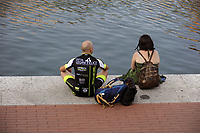 - Milan, turisti sulla Darsena<br />